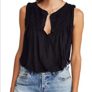 Free People New to town Tank Top - Black